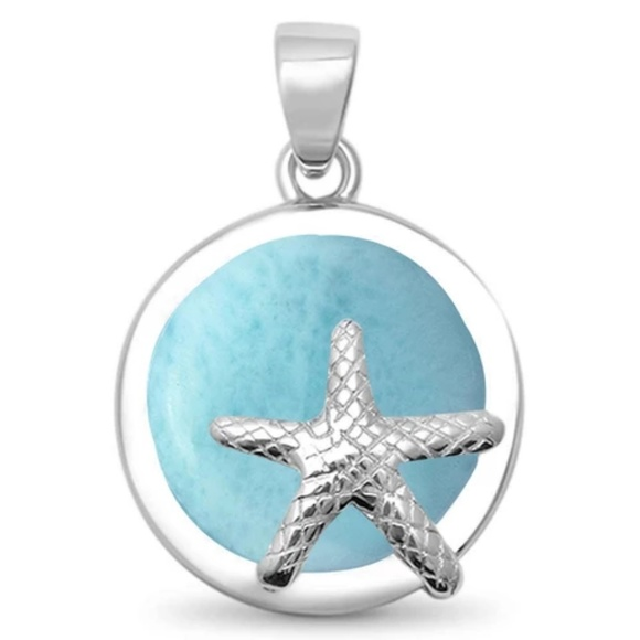 sebastian Jewelry - natural larimar round starfish